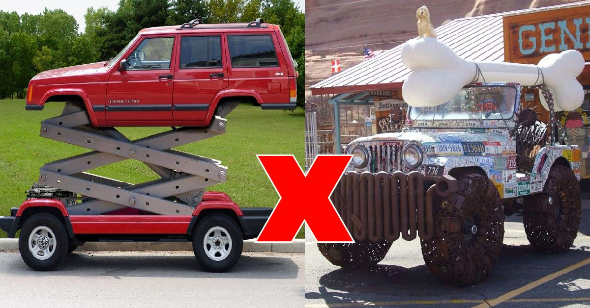 15 Pictures Of Jeep Mods Their Owners Should Absolutely Regret