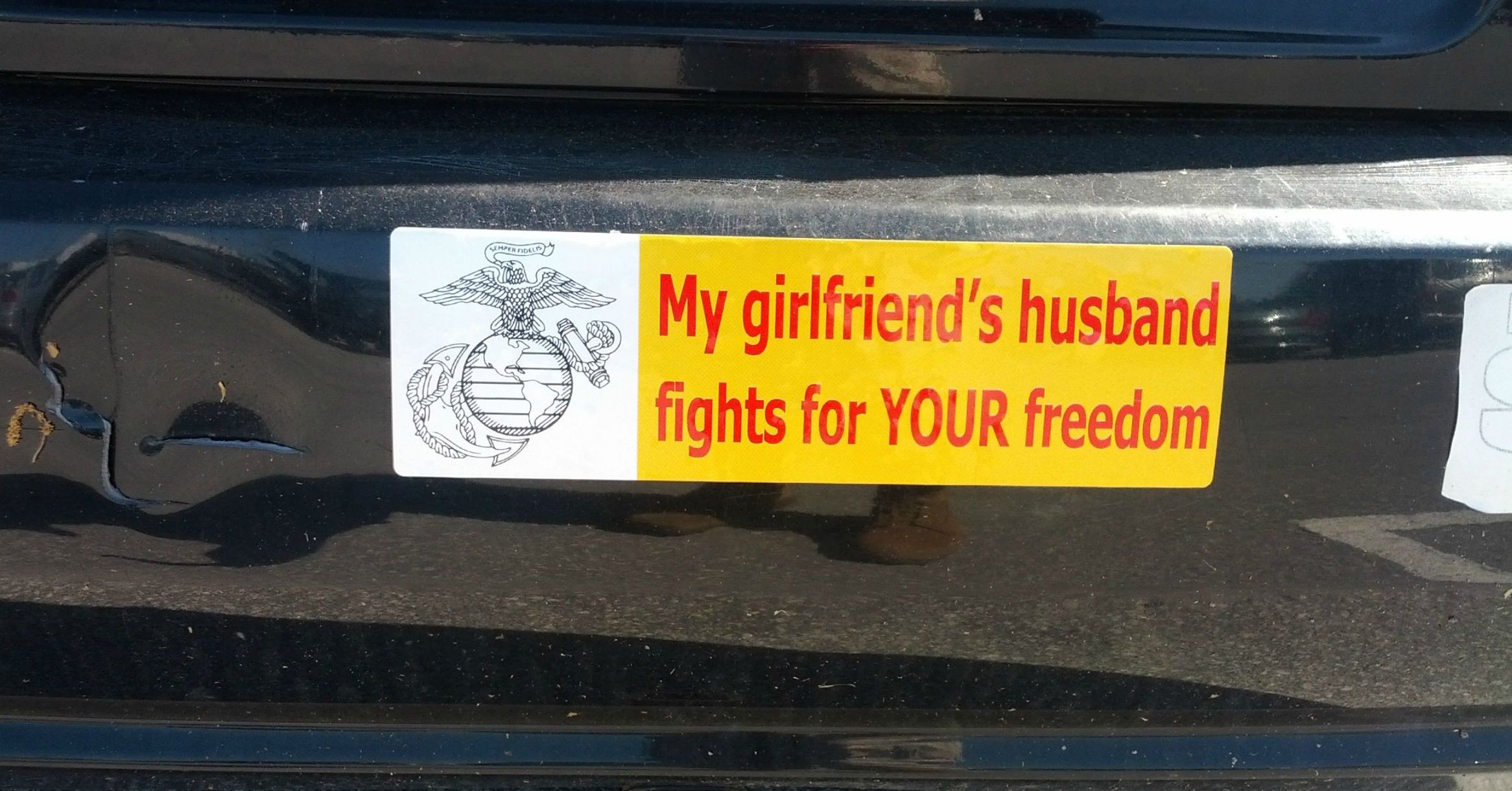 24 tasteless bumper stickers we almost feel bad for laughing at