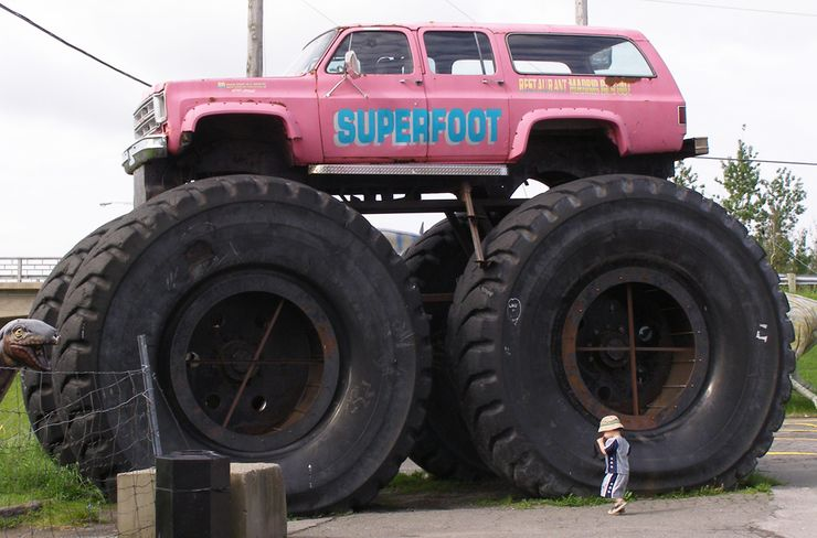 9 Photos Of Monster Trucks That Were Deserted 9 That Totally Deserved It