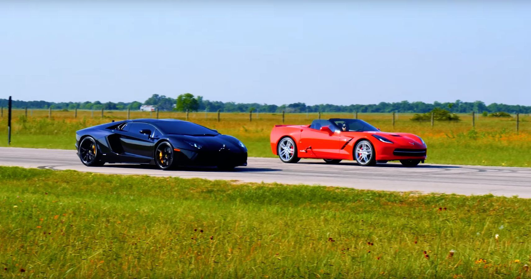 Hennessey Races Their 750 HP Corvette Upgrade Against A