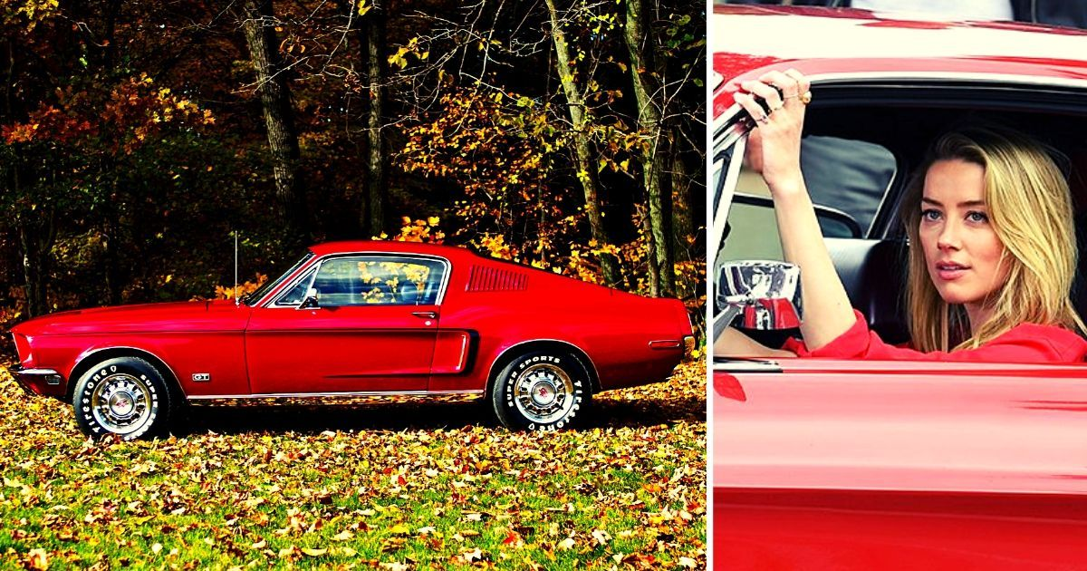 The Story Of The Stunning 1968 Ford Mustang Owned By Amber Heard