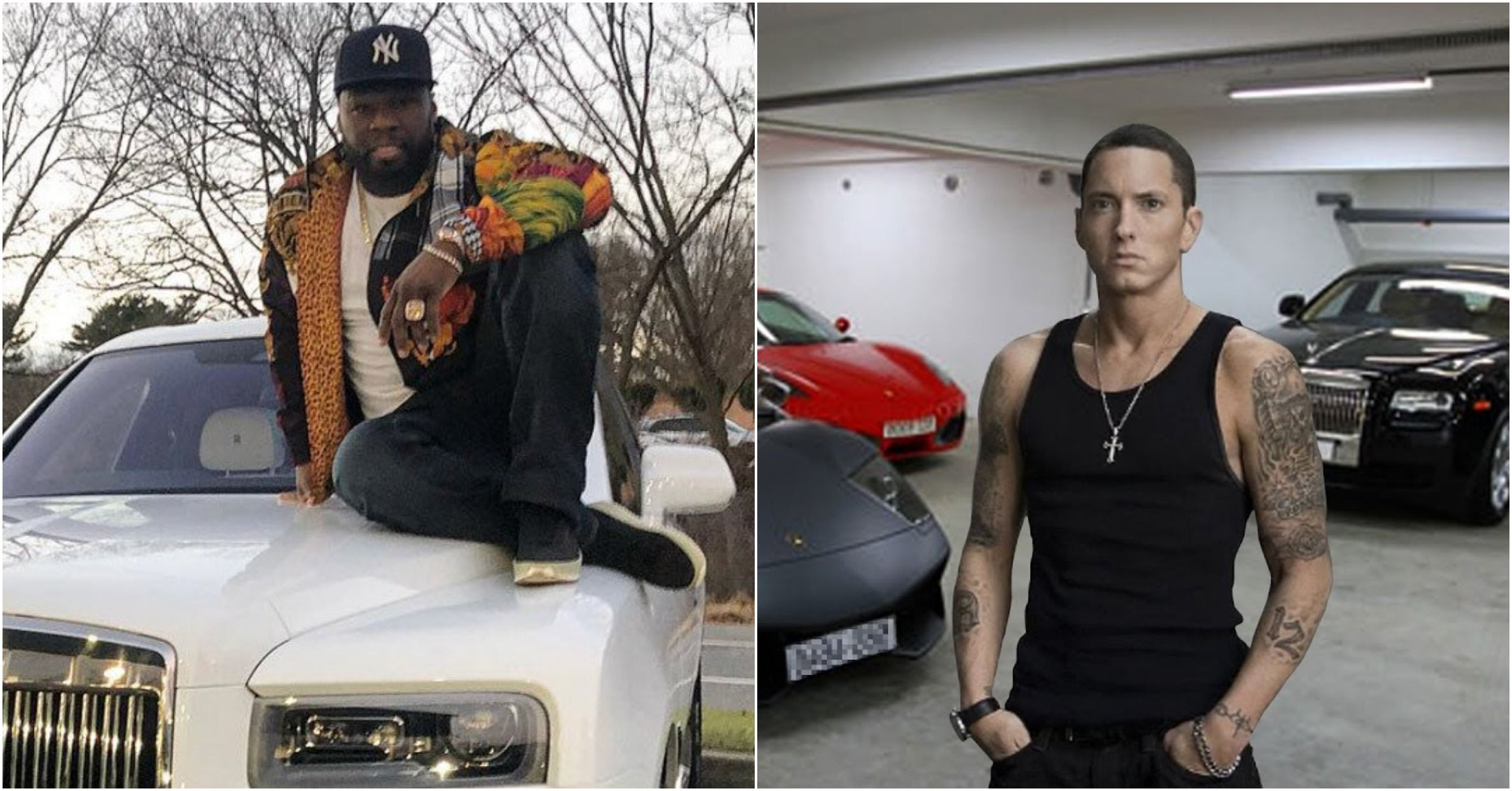 Does Eminem Have A Better Car Collection Than 50 Cent? You Decide