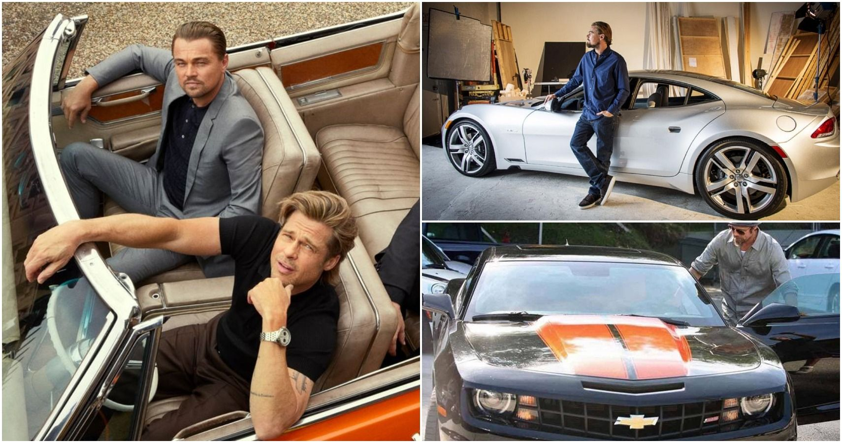 Brad Pitt Vs Leo DiCaprio: Who Drives Better Cars? | HotCars