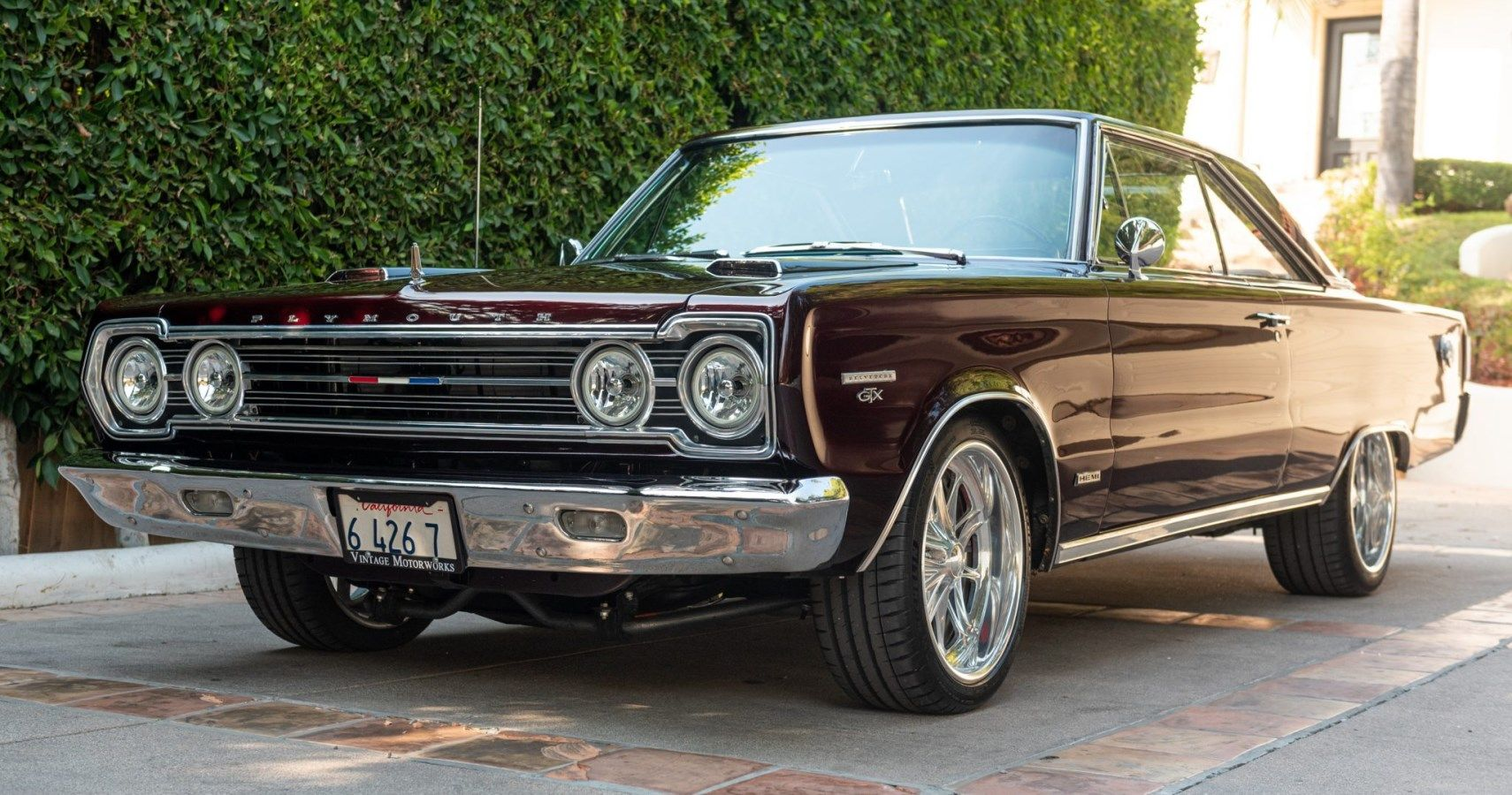 Bring A Trailer: Metallic Red 1967 Plymouth GTX With Hemi V8