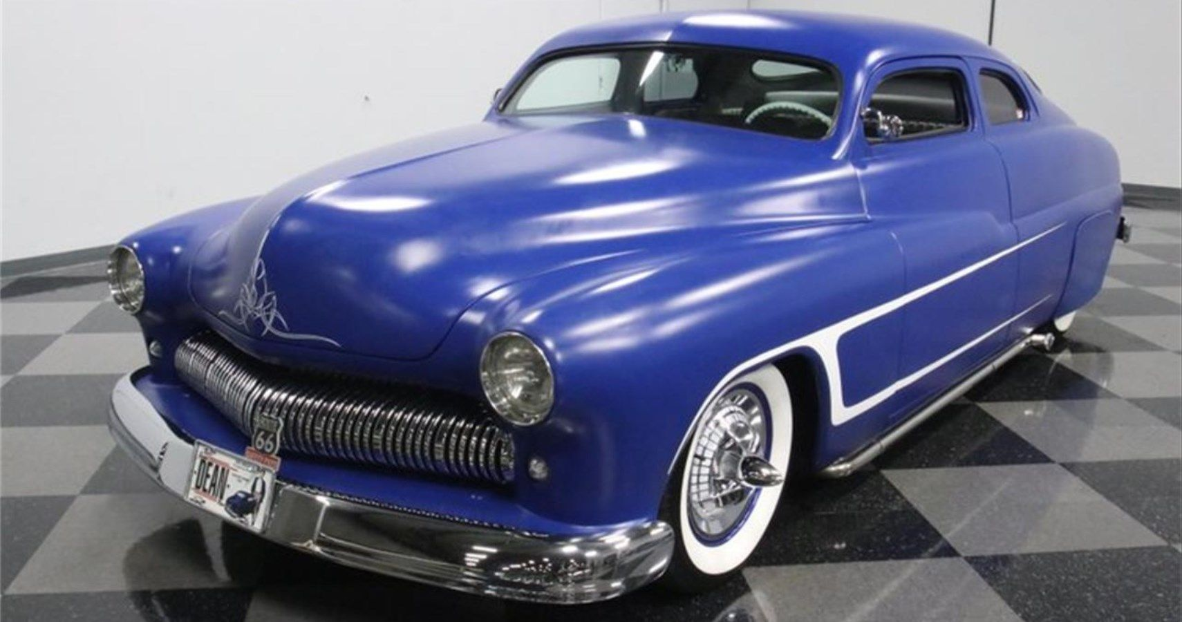 This Sleek 1950 Mercury Eight Finished In Matte Blue Is A Custom Hot Rod Beauty