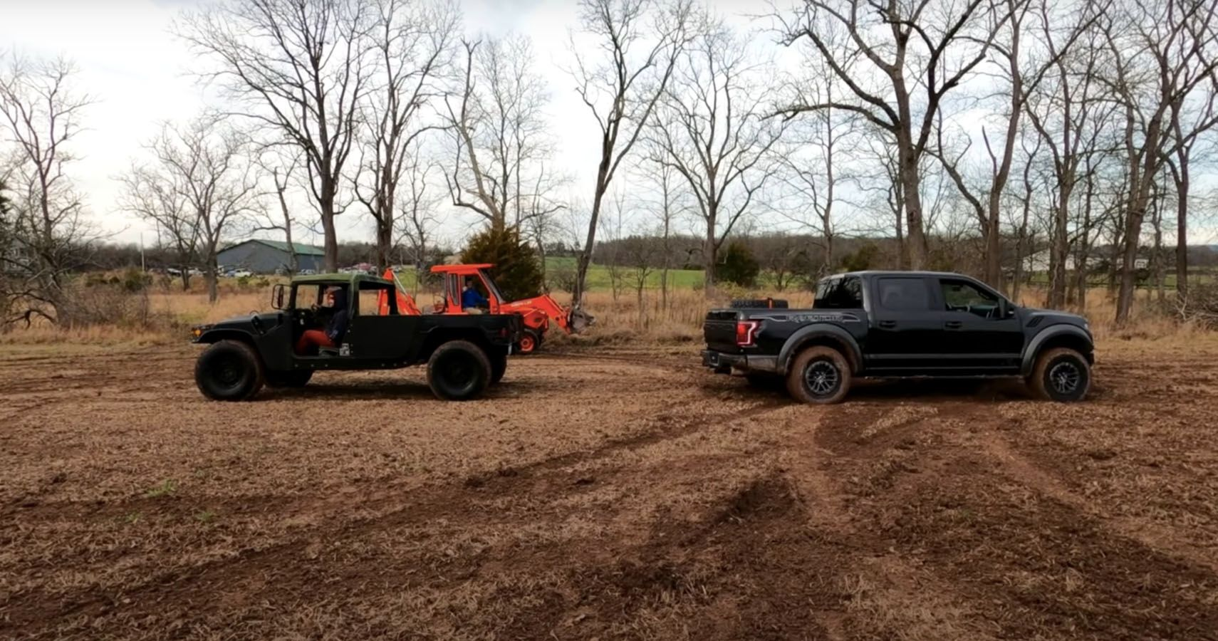 Ford Raptor Owner Jumps His Truck Over A Hummer In Wild Stunt No One Should Try At Home