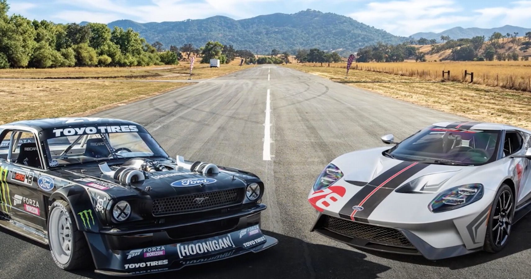 Ford Vs Ford: Watch The 1400-HP Mustang Hoonicorn Drag Race A GT Carbon Series