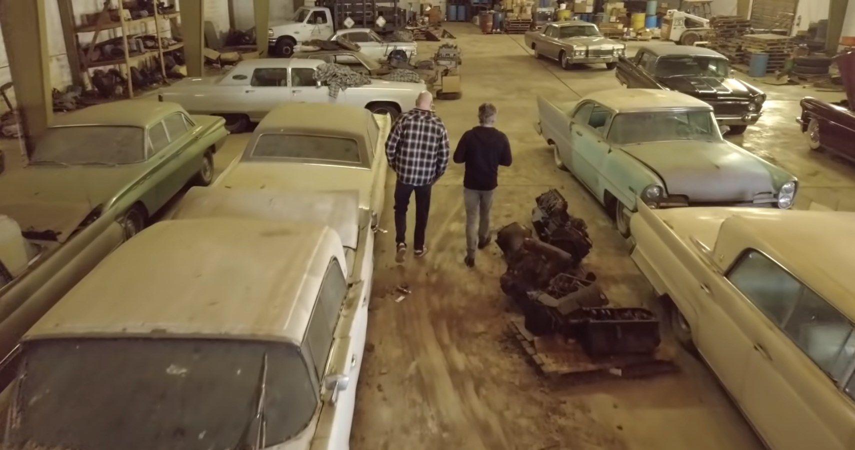 Richard Rawlings checks out a garage with more than 35 cars that have been unmoved for 40 years.