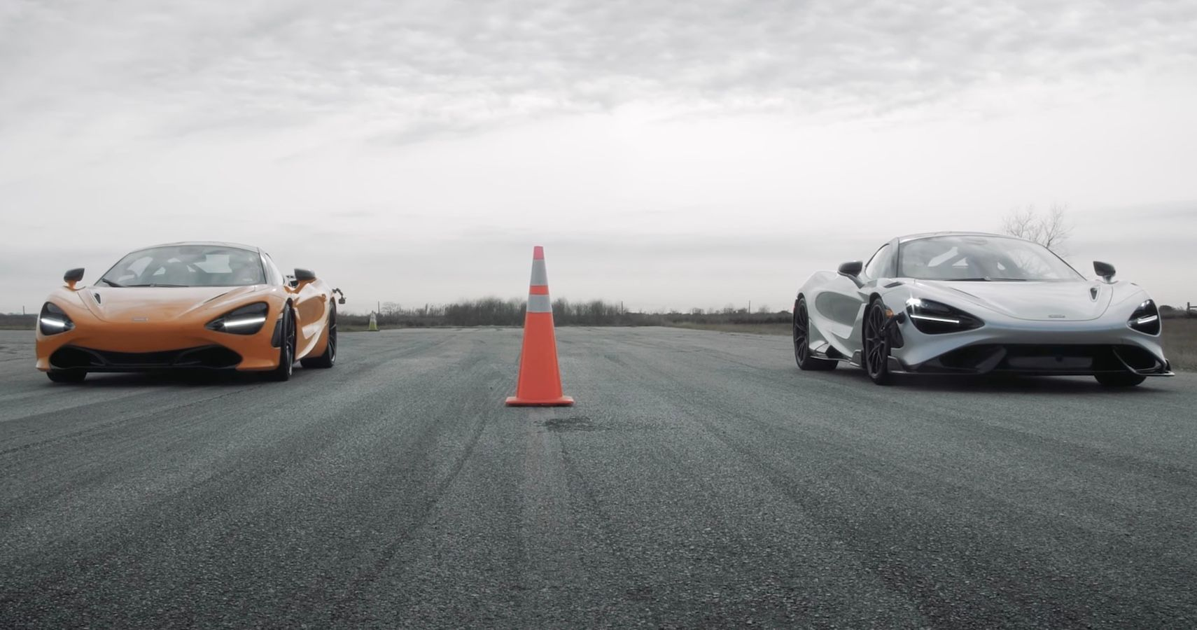 Watch This McLaren Sibling Rivalry Unfold In A 720S Vs 765LT Drag Race