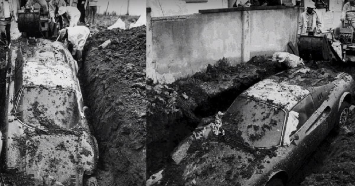 The Story Of This Buried Ferrari Discovery Was Like Something Out Of A Movie