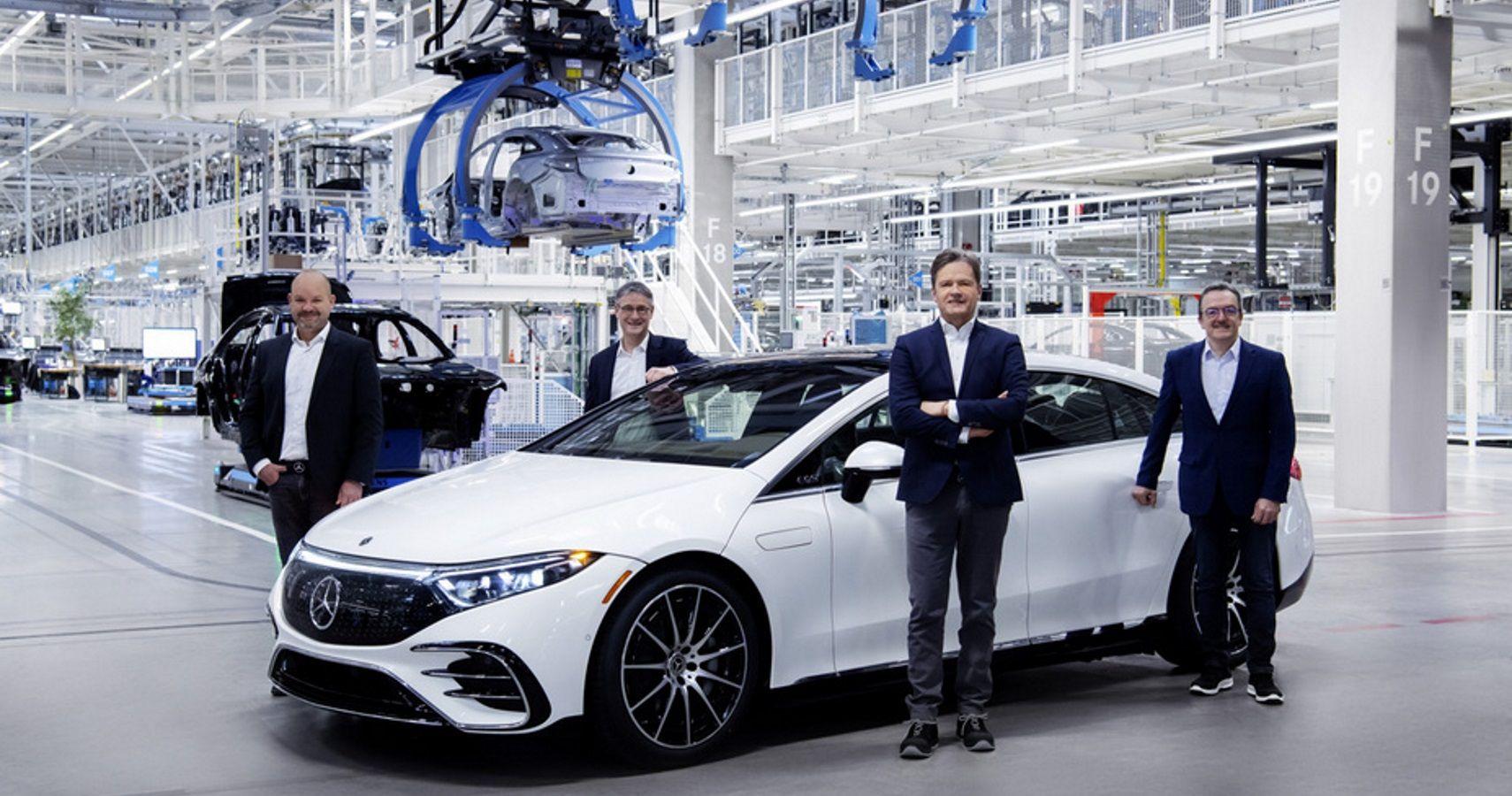 First Mercedes-Benz Electric Sedan Rolls Out From High-Tech Factory